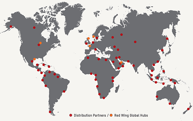Red Wing International Distribution - across the globe